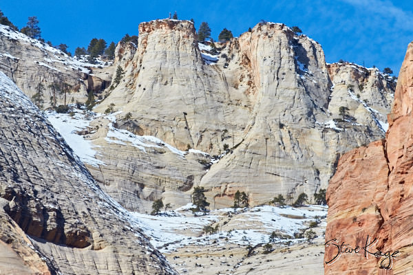 Abraham Peak, Court of the Patriarchs, Zion National Park, (c) Photo by Steve Kaye, in photo article: Zion National Park