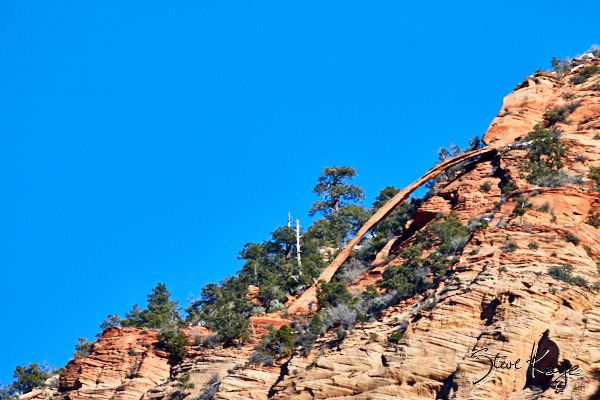 Crawford Arch, Bridge Mountain, Zion National Park, (c) Photo by Steve Kaye, in photo article: Zion National Park