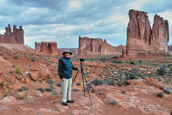 Steve Kaye in Arches National Park, UT, in About Steve Kaye