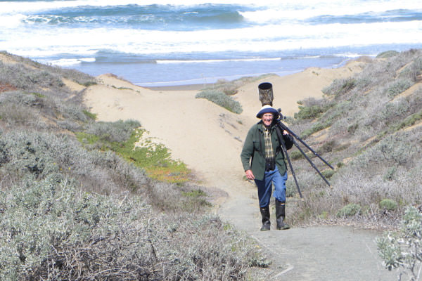 Steve Kaye, Walking up the Dune at Morro Bay, CA, in About Steve Kaye